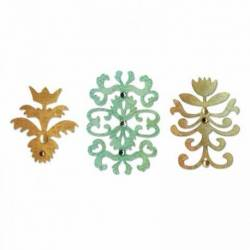 Sizzix Sizzlits Stanzschablone / Die Set 3PK - Floral Insignia Set