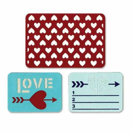 Sizzix Thinlits Stanzschablone / Die Set 3PK - Love
