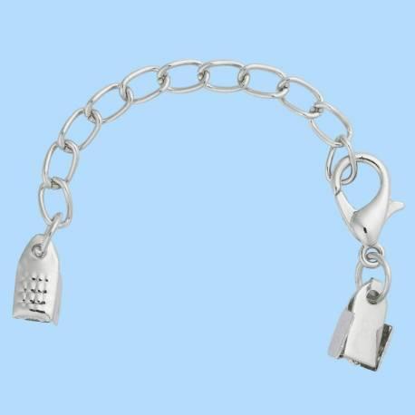 Kettenverschluss silber - Verschluss: 0,8 cm