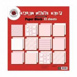 Baby rosa Papier Block 12x12 inch