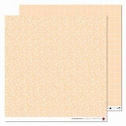 Motivpapier - Pfirsich, Blätter- und Karomuster