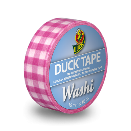 DUCKTape Pink Check 15mmx10m