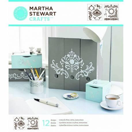 Martha Stewart Schablone medium flourish