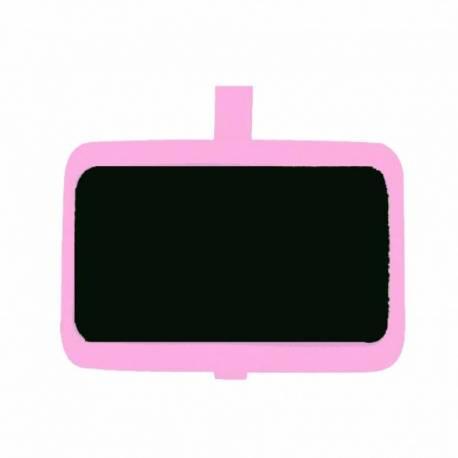 Kreidetafel mit Klammer - rosa