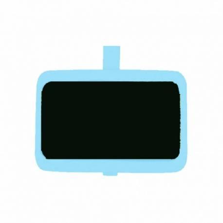 Kreidetafel mit Klammer - blau