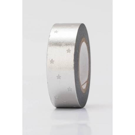 Washi Tape - Sterne, silber
