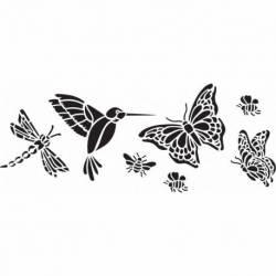 Delta Schablone x1 Schmetterlinge & mehr