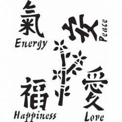 Delta Schablone mania x1 Asian symbols