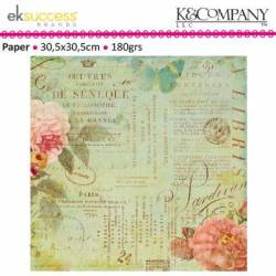 K&Company scribe text shimmer Papier