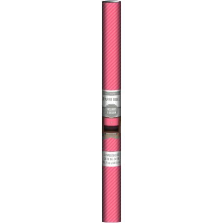 K&Company Papierrolle 45,7x60,9cm x3 coral stripe