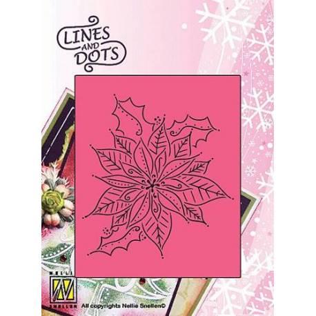 Schablone Lines and Dots - Weihnachtsstern