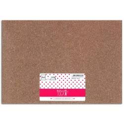 Bügelfolie Glitter sheet A4 Copper