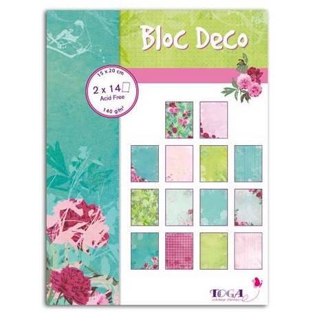 Block Deco Pivoine 15x20cm 28 Blätter