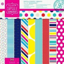 12 x 12 Designstax (48pk) - Capsule - Spots & Stripes Summer Brights