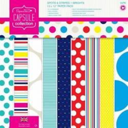 12 x 12 Papier Set (32pk) - Capsule - Spots & Stripes Summer Brights