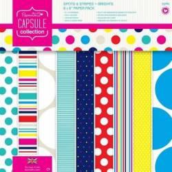 8 x 8 Papier Set (32pk) - Capsule - Spots & Stripes Summer Brights