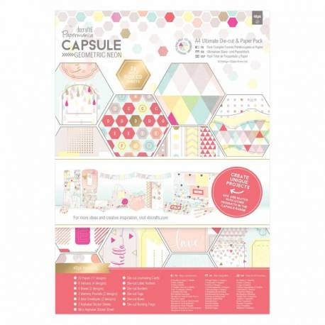 A4 Ultimativer Stanz- & Papierblock (48Bl) - Capsule Neon