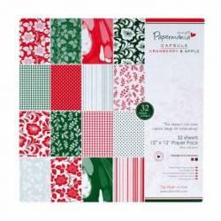 12 x 12 Papier Set - Capsule (32Pk) Cranberry & Apple