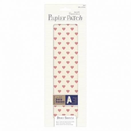 Decoupage Papierbögen (3Stk) - Papier Patch - Cross Stitch Hearts