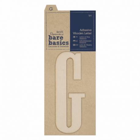 Selbstklebende Buchstaben aus Holz G (1Stk)