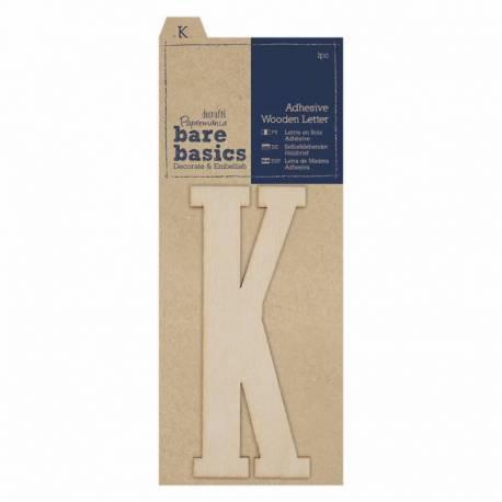 Selbstklebende Buchstaben aus Holz K (1Stk)