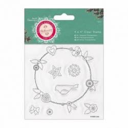 "Präzisionsstempel - Bellissima Christmas 4 x 4"" (10,1 x 10,1cm)"