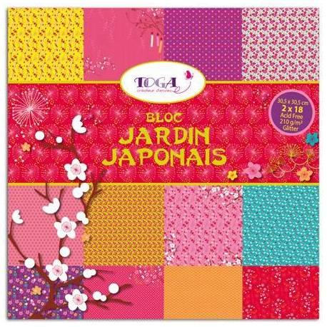 Block 30x30 Jardin Japonais, Glitter - 36 Blätter