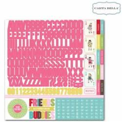Carta bella Sticker 30,5x30,5cm x1 alpha