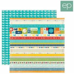 Echo park doppelseitig Papier 30,5x30,5cm x1 Bodüren strips