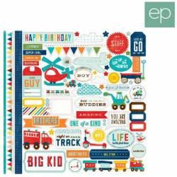 Echo Park Paper 30,5 x 30,5cm - Scoot Element Sticker