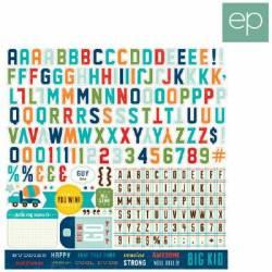 Echo Park Sticker 30,5 x 30,5cm - Alpha