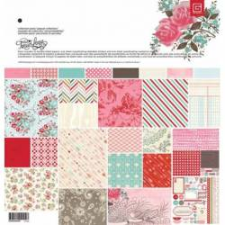 BasicGrey true love Papier Collection Set - Inhalt 14 Blatt