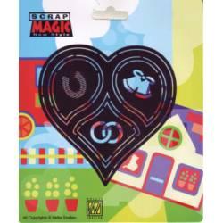 Scrap magic-Herz, Glück, Ehe, Glocken