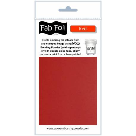 Wow Fab Foil - Red