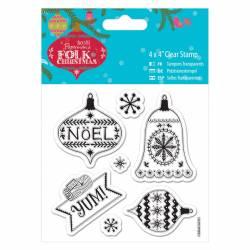 10 x 10cm Präzisionsstempel - Folk Christmas - Yum