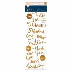 Grußbotschaften Sticker Kupfer - Forever Friends - Opulent