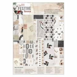 A4 Ultimativer Stanz- & Papierblock (48Bl) - Festive Fauna
