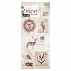 3D Sticker (7Stk) - Festive Fauna