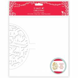 """8 x 8"""" Pop-up Cards (4pk) - 12 Days of Christmas - Text"""