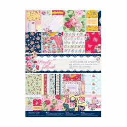 A4 Ultimativer Stanz- & Papierblock (48Bl) - Simply Floral