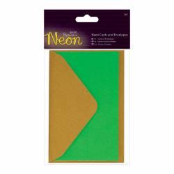 Karten und Biefumschläge (3Stk) - Neon - Grün