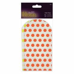 Papiertüten (6Stk) - Neon - Gelb und Orange