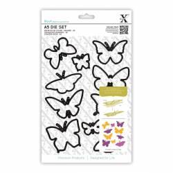 A5 Stanzschablonen Set (10Stk) - Schmetterlinge
