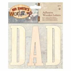 Selbstklebende Buchstaben aus Holz (3Stk) - Mr Smith's Workshop - DAD