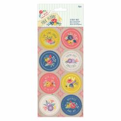 Sticker (16 Stk) - Folk Floral