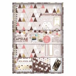 Scrap Book Set - Capsule Collection - Geometric Mocha