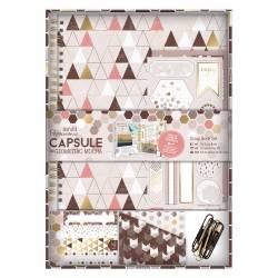 Scrap Book Set - Capsule Collection - Geometric Mocha