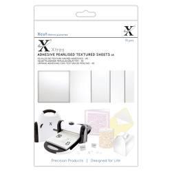 Xcut Xtra's A5 Adhesive Pearlised Textured Sheets (15pcs)