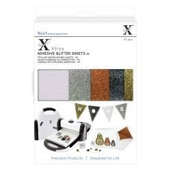 Xcut Xtra's A5 Adhesive Glitter Sheets (10pcs) Metallics
