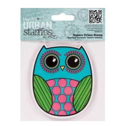4 x 4 Urban Stamp / Stempel - Owl